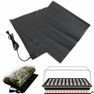 200 Cell Seedling Starter Trays + 120X52cm Heat Mat Seedling Germination Pad
