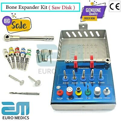Dental Saw Disks Bone Expander Kit Surgical Embed Implantology Instruments Lab
