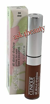 Clinique All About Shadow (04 Deep) Primer For Eyes 0.15oz New In Box