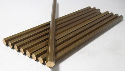 8709) Brass, Six Sided, sechskantstab, SW 10mm
