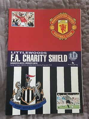 FA CHARITY SHIELD PROGRAMME 1996: Manchester United v Newcastle United