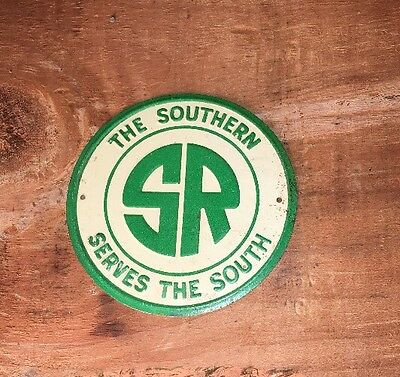 "1960's Post Cereal ""SR The Southern"" Railroad Mini Tin Sign"