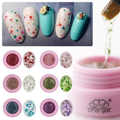 Fleur Floral UV Gel Ongle Extension Base de Vernis Nail Art Semi Permanent Décor