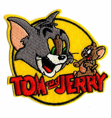 TOM AND JERRY IRON ON / SEW ON PATCH Embroidered Badge Cartoon TV PT55