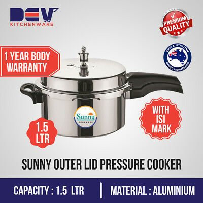 Tulsi Metal Outer Lid 1.5 L (R) small Pressure Cooker $35.49 @ Dev Kitchenware