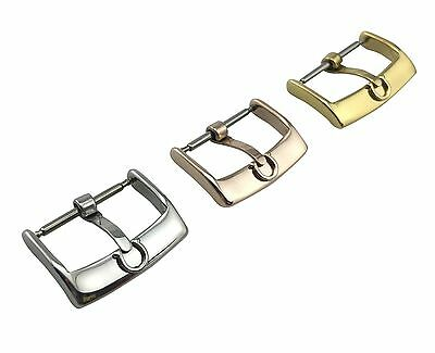 Stainless Steel Buckle Clasp fit Omega Leather Strap Watch SIlver Gold 16mm 18mm
