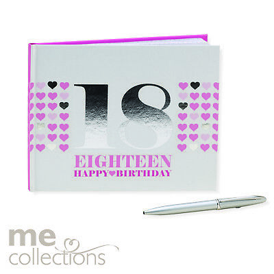 Guest Book Pink Foil 18th Birthday With Pen