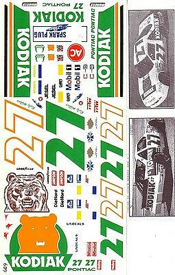 Rusty Wallace Kodiak Pontiac NASCAR Decals 1/24