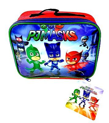 PJ MASK Boys & Girls Insulated Lunch Bag School / Travel / LUNCH BAG - WH4  473