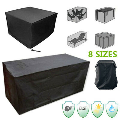 8 Size Waterproof Outdoor Patio Garden Furniture Rain Shelter Table Chair Cover