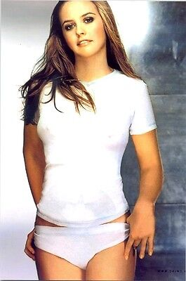 Alicia Silverstone - In White Panties And White Shirt !!!