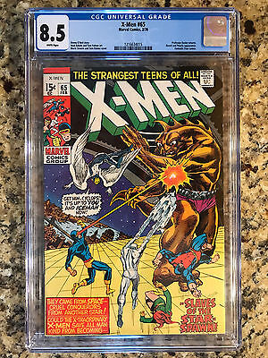 X-Men #65 Marvel Cgc 8.5 Vf+ White Pages