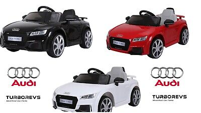 12V Official Audi Tt Rs Licensed Kids Electric Ride On Toy Car Parental Remote