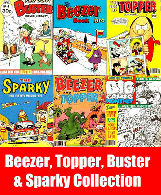 Beezer,Topper,Buster & Sparky Vintage UK Comic & Annuals on 6 DVD British Comics