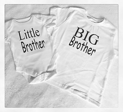 Personalised Big Little Brother Boy Birthday Top Tshirt Outfit Matching Newborn