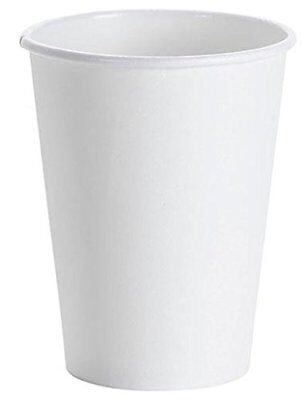 NYHI 12 Ounce White Paper Hot Cup Disposable Coffee Cups 100, 12 Ounce