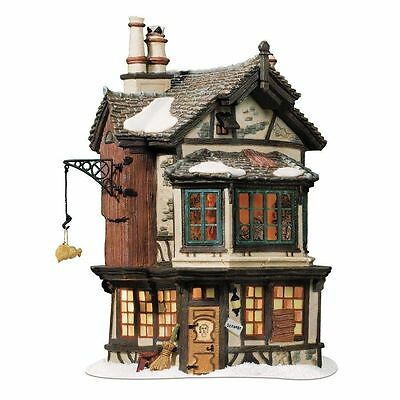 "Dept 56 Dickens Village ""EBENEZER SCROOGE'S HOUSE"" NIB FREE SHIPPING"