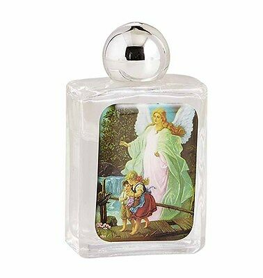 """Guardian Angel Glass Holy Water Bottle  2 1/2"""" High (B3832) NEW"""