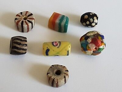 Collection of Ancient Handmade Beads - Origin Unknown