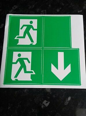 Emergency Light Exit Legends, Stickers, Safety Sign, Multi-Direction Arrow
