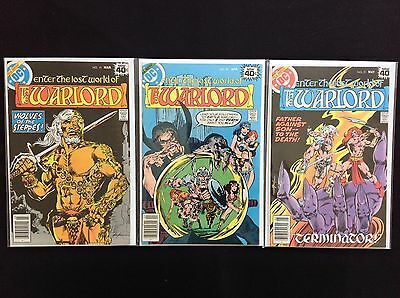 WARLORD Lot of 3 DC Comic Books - Run #19 20 21!