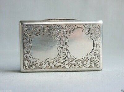 1840 Antique Austrian Hungarian Silver  Vanity Snuff  Box