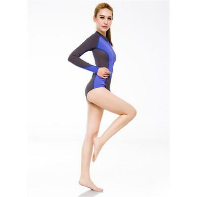 Women 2mm Front Zip Spring Shorty Suit Long Sleeve Surfing Diving Swim Wetsuit