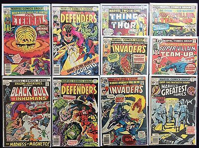 MARVEL BRONZE Lot of 10 Comic Books - Defenders, Eternals, Invaders, Inhumans +!