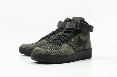 promo code 34f92 8c743 NIKE AF1 ULTRA FLYKNIT MID PALM GREEN Trainers 817420 301 UK 7 ~ 10