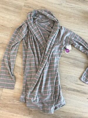 New! Bump In The Night Maternity Nursing Robe Size Medium M