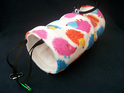 COZY PETS guinea pig hanging tunnel bed house rat,ferret ,fleece play ,tube,toy