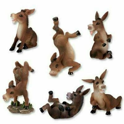"""Summit Donkeys Collectible Figurine, Set of 6 3.5""""H each"""