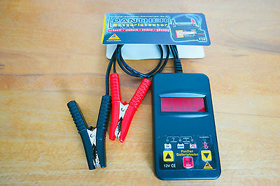 Panther KFZ Auto Batterie Strom Spannungs Profi Tester 12 V Batterietester BT101