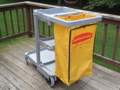RUBBERMAID 6173 Janitorial Houskeeping Cleaning Cart