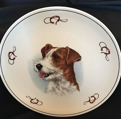 HAMMERSLEY English Bone China JACK RUSSELL TERRIER plate with collar and leash