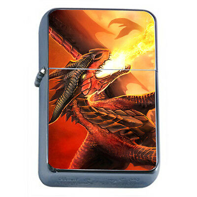 Dragons D32 Windproof Dual Flame Torch Lighter Refillable Fantasy