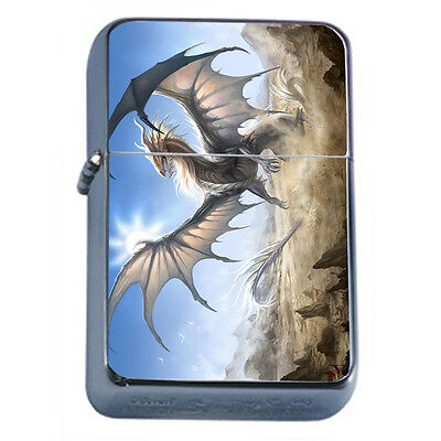 Dragons D33 Windproof Dual Flame Torch Lighter Refillable Fantasy
