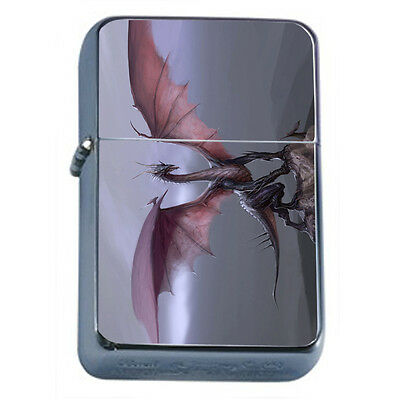 Dragons D34 Windproof Dual Flame Torch Lighter Refillable Fantasy
