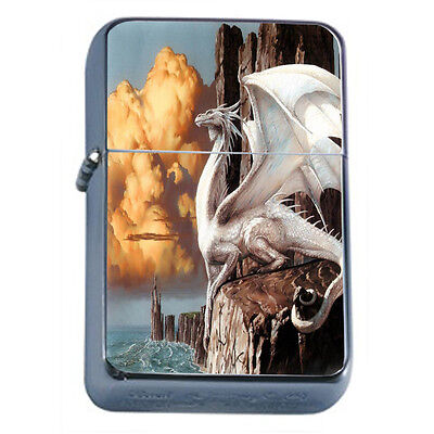 Dragons D38 Windproof Dual Flame Torch Lighter Refillable Fantasy