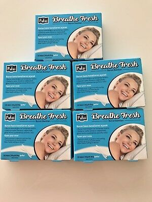 Breathe Fresh Nasal Strips Transparent, 50 Pieces in 5 Box Large Size by Pufai