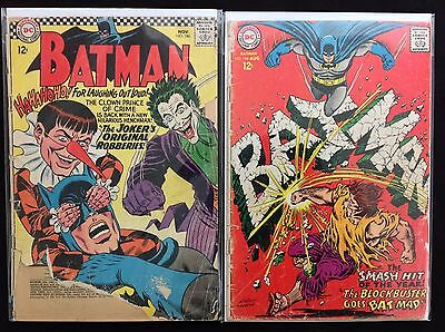 BATMAN Lot of 2 DC Comic Books - #186 194 - Joker!