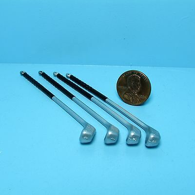 Dollhouse Miniature Sport Golf Set Set of 4 Clubs ~ G2050