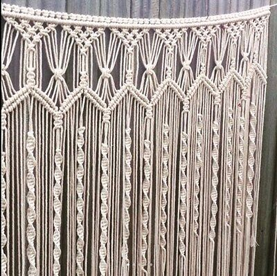 Macrame Wall Hanging 1m X 120cm Art Handmade Boho Wedding Backdrop Bohemian