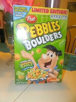 Pebbles Boulders Limited Edition Cereal Box Sealed