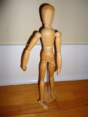 "Ikea 13"" Jointed Mannequin Sketch Wooden Figure Pose-able Drawing"