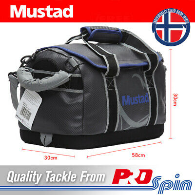 """Mustad 24"""" Dry Duffle Fishing Tackle Bag With Strap - 50L Waterproof Seam Sealed"""