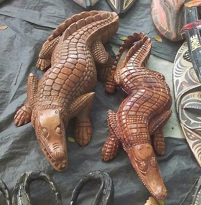 Decorations. Crocodile wooden carvings.  Unique for decorations and gifts.