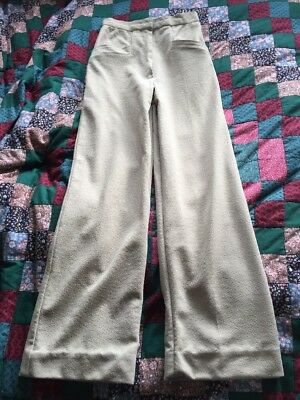 Vintage 1940s Style High Waisted Wide Leg Crepe Pants 1970s Palazzo