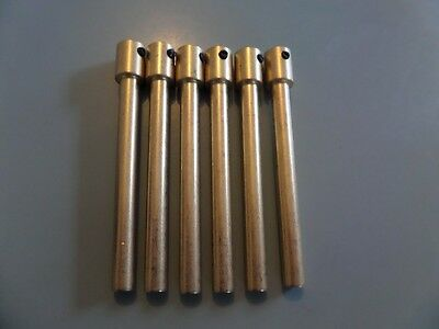 Radio pot shaft extension bars in brass x 6  x 75mm long