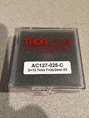 "NEW THORLABS AC127-025-C 1/2"" ACHROMATIC DOUBLET F=25mm 1050-1620NM"